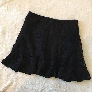 Express black lace mini skirt size 2